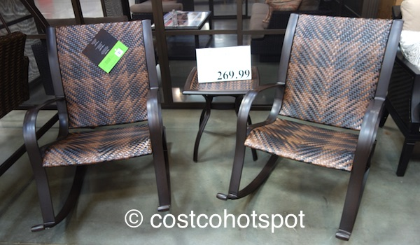 3-Piece Woven Rocker Set | Costco Hotspot