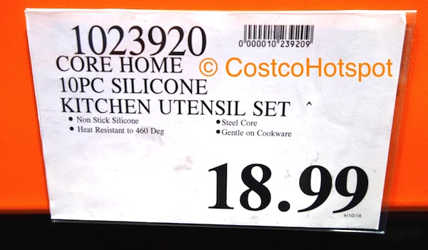Core Kitchen 10-Piece Silicone Utensil Set Price | Costco Hotspot
