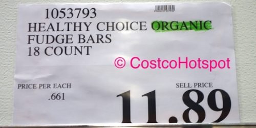 Healthy Choice Organic Fudge Bars 18-Count Costco Price