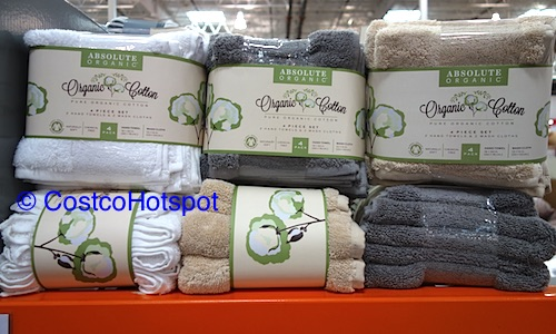 Absolute Organic Cotton 4-Piece Towel Set | Costco Hotspot