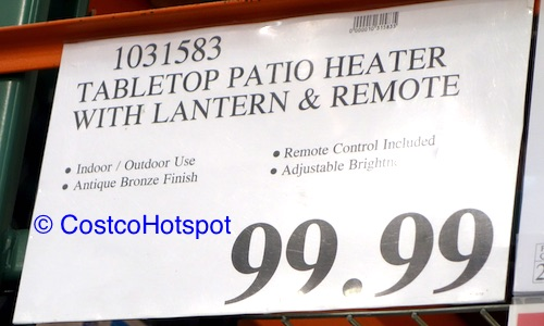 PowerHeat Tabletop Indoor/Outdoor Electric Lantern Heater Price | Costco Hotspot