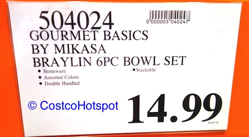 Gourmet Basics by Mikasa Braylin Set of 6 Stackable Stoneware Bowls Costco Price