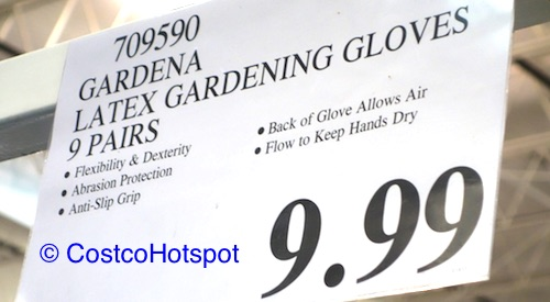 Gardena Latex Gardening Gloves 9-Pairs Costco Price
