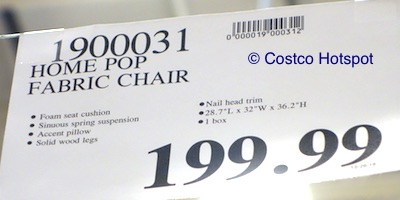 Costco Price: Costco: Home Pop Edwin Fabric Chair
