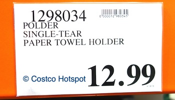 Costco Price: Polder Single-Tear Paper Towel Holder