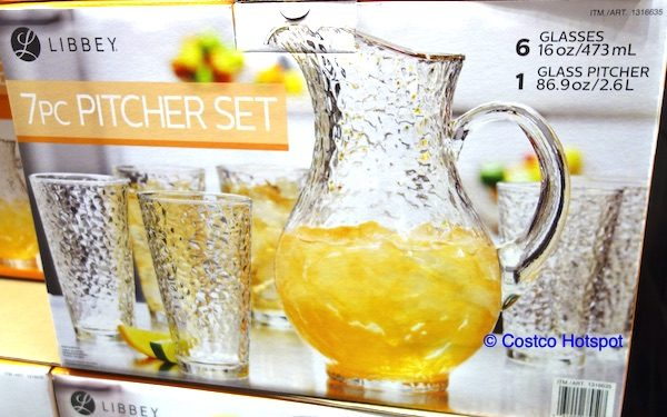 Libbey Glass Pitcher Tumbler Set Costco