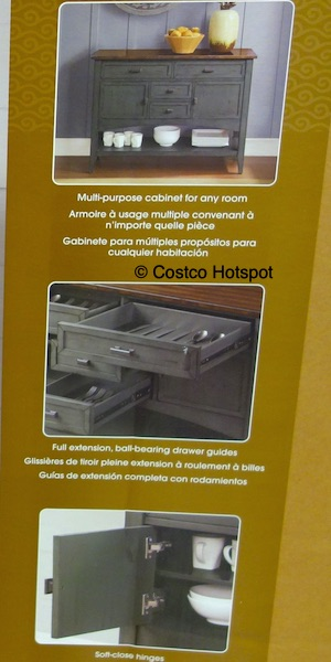 Bayside Furnishings Seabrook 47 Console Costco Hotspot