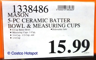 Mason Craft and More Ceramic Batter Bowl and Measuring Cups Set Costco Hotspot Price