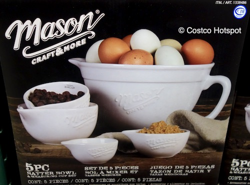 Mason Craft and More Ceramic Batter Bowl and Measuring Cups Set Costco Hotspot