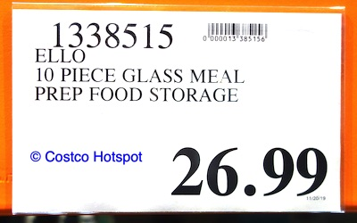 Ello Meal Prep Glass Food Containers Set Costco price
