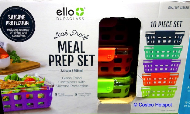 Ello Meal Prep Glass Food Containers Set Costco