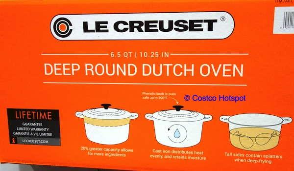 Le Creuset 6.5 Quart Deep Round Dutch Oven Costco