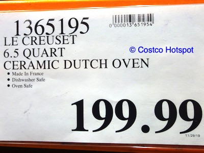 Le Creuset 6.5 Quart Deep Round Dutch Oven Costco price