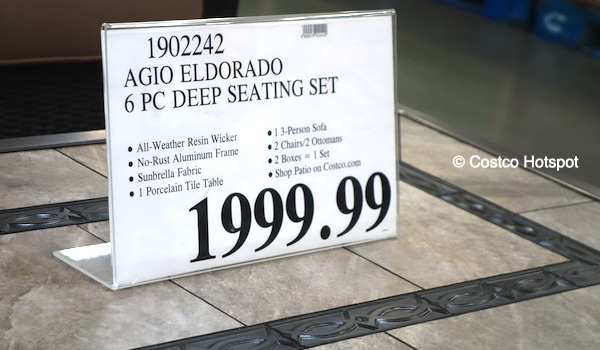 Agio Eldorado Deep Seating Costco Price