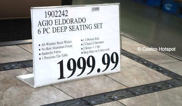 Agio Eldorado Deep Seating Costco Price
