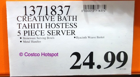 CreativeWare Tahiti Hostess Server Costco price