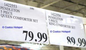 Pendleton comforter set Costco Price