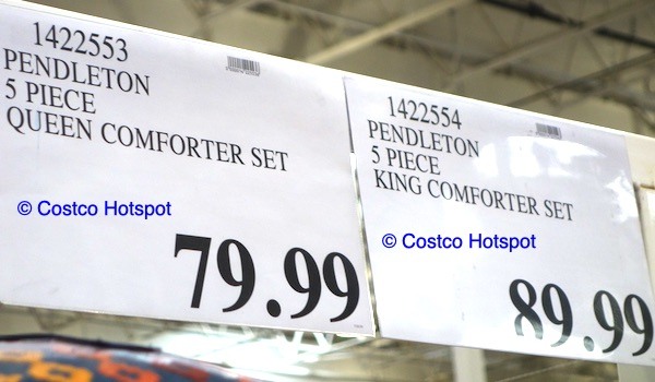 Pendleton comforter set Costco Price