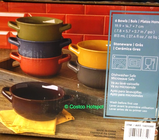 Overandback Comfort Food 6-Piece Bowl Set Dimensions | Costco Hotspot