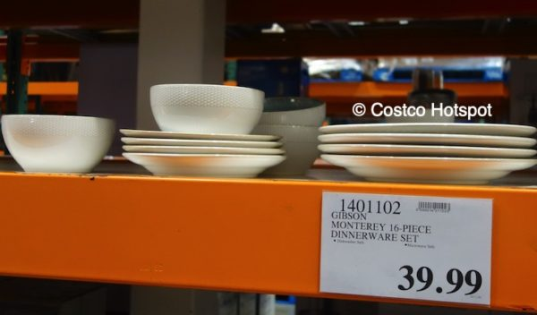 Costco Price of Laurie Gates Monterey 16-Piece Dinnerware Set