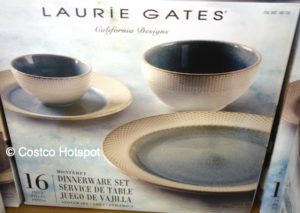 Laurie Gates Monterey 16-Piece Dinnerware Set Teal at Costco