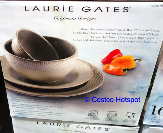 Laurie Gates Monterey 16 Piece Dinnerware Set at Costco