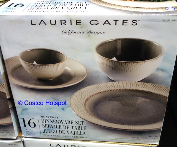 Laurie Gates Monterey 16-Piece Dinnerware Set at Costco
