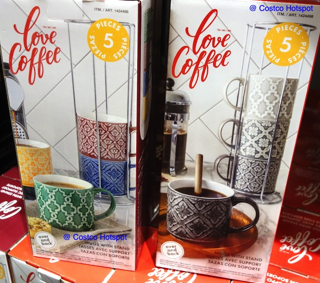 overandback Love Coffee Mugs with Stand | Costco Hotspot