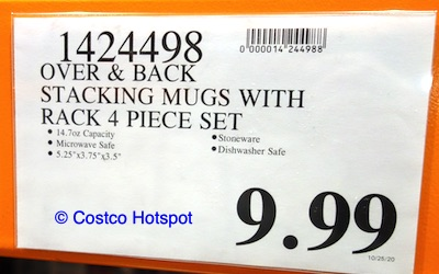 overandback Love Coffee Mugs with Stand Price | Costco Hotspot