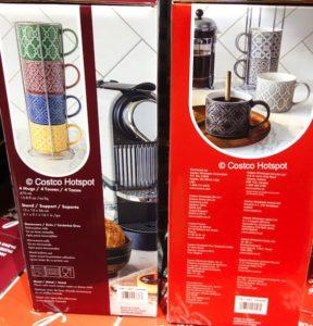 overandback Love Coffee Mugs with Stand Set   Costco Hotspot