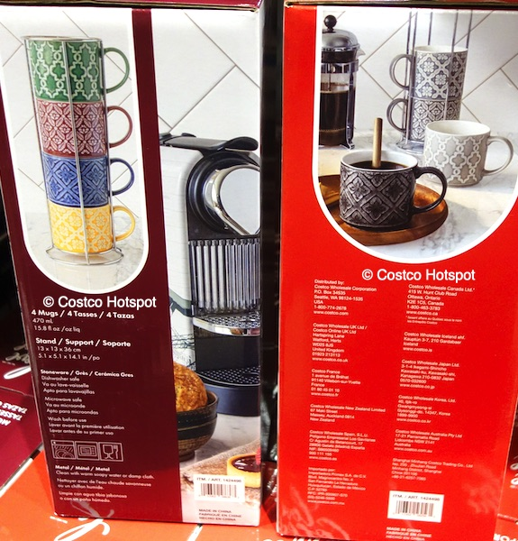 overandback Love Coffee Mugs with Stand Set | Costco Hotspot