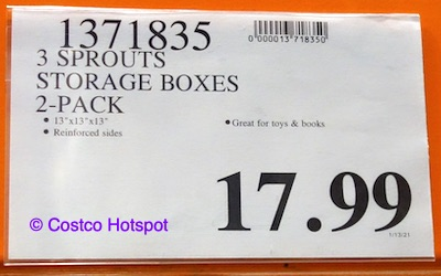 3 Sprouts Storage Boxes Costco Price