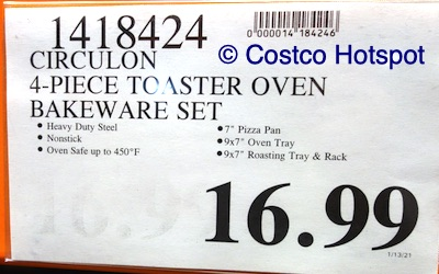 Circulon Toaster Oven Bakeware Set | Costco Price