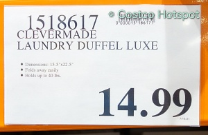 CleverMade Laundry Duffel Luxe Price at Costco