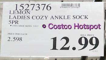 Lemon Cozy Ankle Socks Ladies | Costco Price